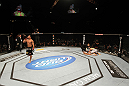 UFC 130: Gleison Tibau celebrates his submission victory over Rafaello Oliveira