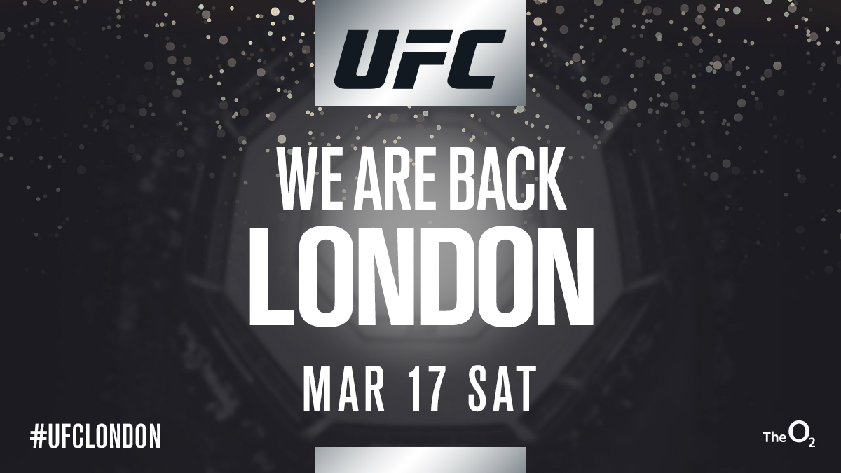 UFC Returns to London on March 17, 2018 | UFC ®   News