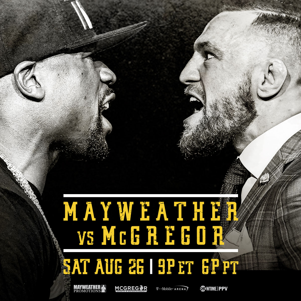 mayweather vs mcgregor date and start