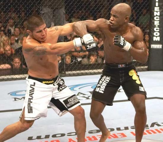 Edwards punches Joe Stevenson at UFC 61