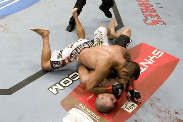 Dan Henderson knocks out Michael Bisping in their first meeting at UFC 100, which to this day is considered one of the most ferocious KOs in UFC history