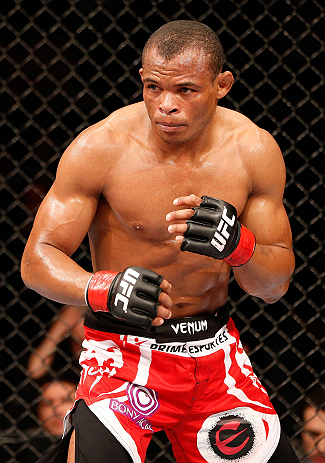 SAO PAULO, BRAZIL - JANUARY 19:  Francisco Trinaldo stands in the Octagon during his lightweight fight against C.J. Keith at the UFC on FX event on January 19, 2013 at Ibirapuera Gymnasium in Sao Paulo, Brazil. (Photo by Josh Hedges/Zuffa LLC/Zuffa LLC via Getty Images)