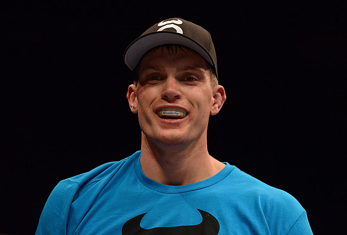 LAS VEGAS, NV - MAY 25:   Stephen Thompson reacts to his victory over Nah-Shon Burrell in their welterweight bout during UFC 160 at the MGM Grand Garden Arena on May 25, 2013 in Las Vegas, Nevada.  (Photo by Donald Miralle/Zuffa LLC/Zuffa LLC via Getty Images)  *** Local Caption *** Stephen Thompson; Nah-Shon Burrell