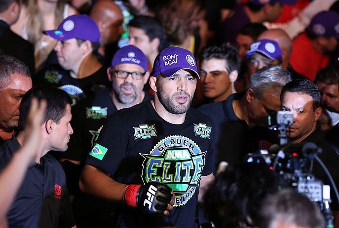 RIO DE JANEIRO, BRAZIL - OCTOBER 13:  Glover Teixeira enters the arena before his light heavyweight fight against Fabio Maldonado at UFC 153 inside HSBC Arena on October 13, 2012 in Rio de Janeiro, Brazil.  (Photo by Josh Hedges/Zuffa LLC/Zuffa LLC via Getty Images)