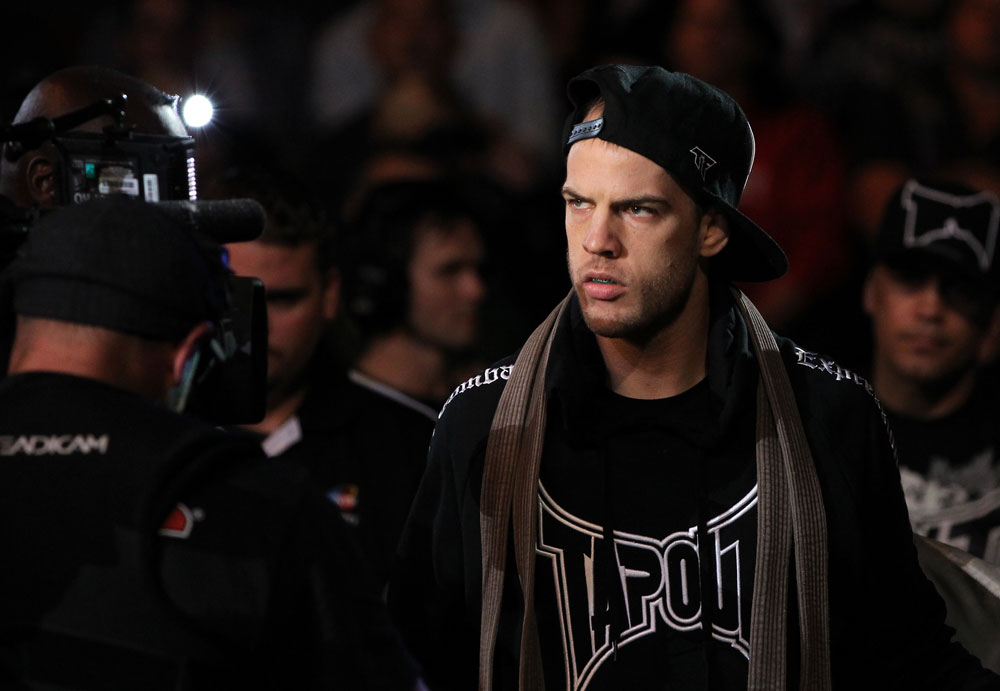 SYDNEY, AUSTRALIA - MARCH 03:  Cole Miller enters the arena before his bout against Steven Siler during the UFC on FX event at Allphones Arena on March 3, 2012 in Sydney, Australia.  (Photo by Josh Hedges/Zuffa LLC/Zuffa LLC via Getty Images) *** Local Caption *** Cole Miller