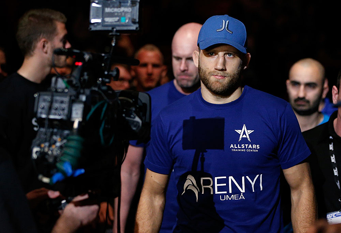 STOCKHOLM, SWEDEN - APRIL 06:  Tor Troeng of Sweden enters the arena before his middleweight fight against Adam Cella at the Ericsson Globe Arena on April 6, 2013 in Stockholm, Sweden.  (Photo by Josh Hedges/Zuffa LLC/Zuffa LLC via Getty Images)