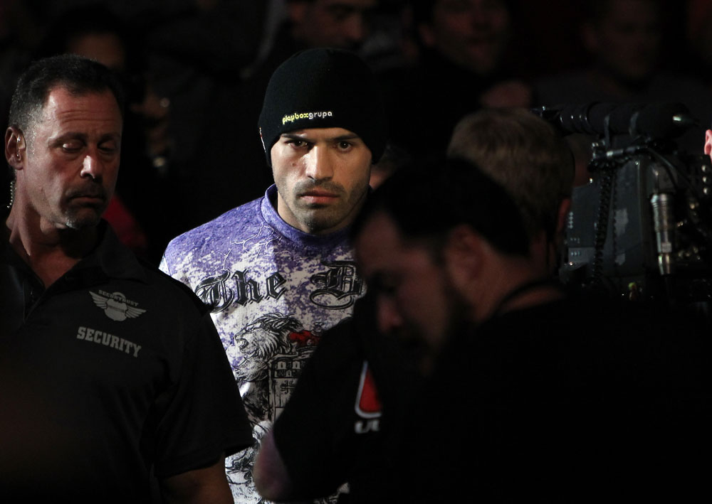 TORONTO, ON - DECEMBER 10:  Igor Pokrajac enters the arena before his bout against Krzysztof Soszynski during the UFC 140 event at Air Canada Centre on December 10, 2011 in Toronto, Ontario, Canada.  (Photo by Josh Hedges/Zuffa LLC/Zuffa LLC via Getty Images)
