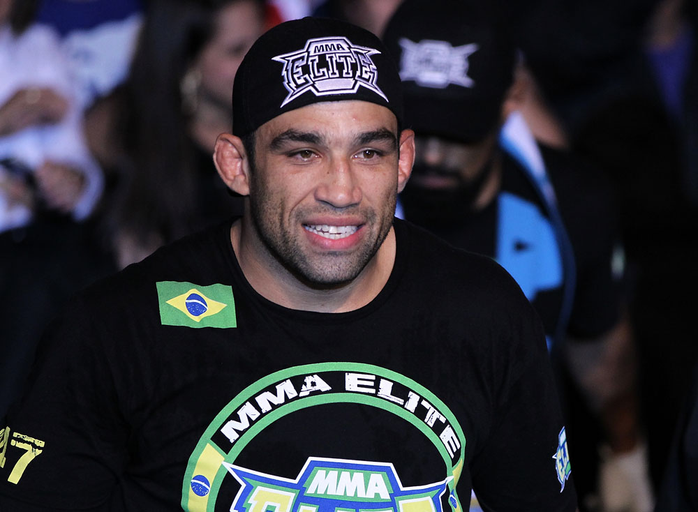 BELO HORIZONTE, BRAZIL - JUNE 23:   Fabricio Werdum enters the arena before his UFC 147 heavyweight bout against Mike Russow at Estadio Jornalista Felipe Drummond on June 23, 2012 in Belo Horizonte, Brazil.  (Photo by Josh Hedges/Zuffa LLC/Zuffa LLC via Getty Images)