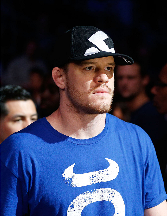 HOUSTON, TEXAS - OCTOBER 19:  CB Dollaway enters the arena before facing Tim Boetsch (not pictured) in their UFC middleweight bout at the Toyota Center on October 19, 2013 in Houston, Texas. (Photo by Josh Hedges/Zuffa LLC/Zuffa LLC via Getty Images)