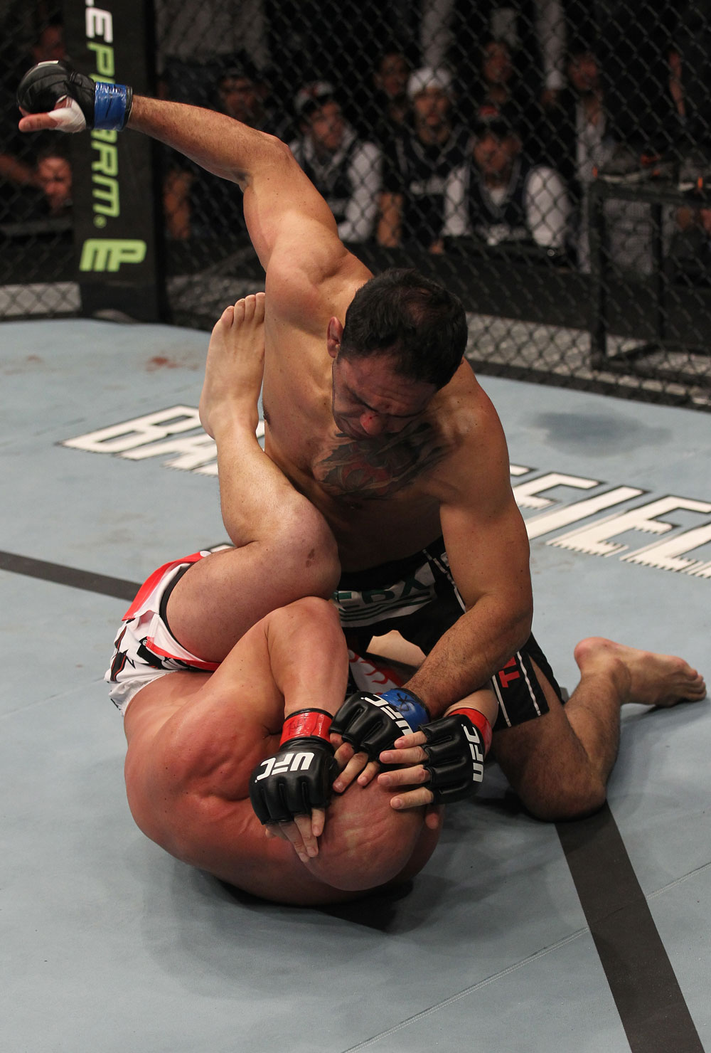 TORONTO, ON - DECEMBER 10:  Antonio Rogerio Nogueira (top) punches Tito Ortiz during the UFC 140 event at Air Canada Centre on December 10, 2011 in Toronto, Ontario, Canada.  (Photo by Nick Laham/Zuffa LLC/Zuffa LLC via Getty Images)