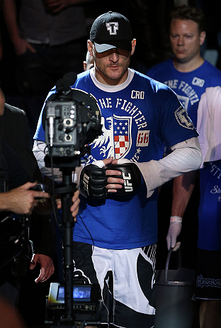 NOTTINGHAM, ENGLAND - SEPTEMBER 29:  Stipe Miocic enters the arena before his heavyweight fight against Strefan Struve at the UFC on Fuel TV event at Capital FM Arena on September 29, 2012 in Nottingham, England.  (Photo by Josh Hedges/Zuffa LLC/Zuffa LLC via Getty Images)