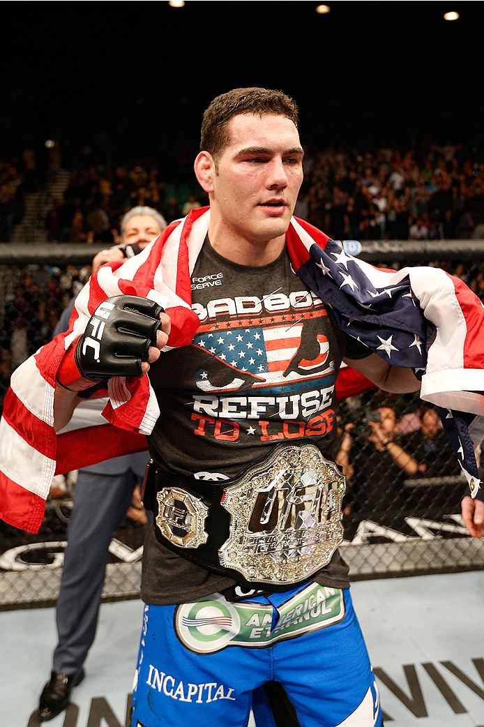 UFC middleweight champion Chris Weidman