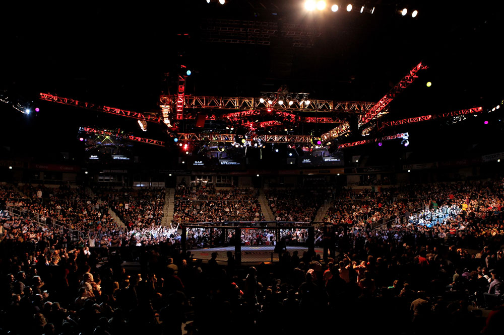 General View of the Arena during UFC 122 at the Konig Pilsner Arena on November 13, 2010 in Oberhausen, Germany. (Photo by Josh Hedges/Zuffa LLC/Zuffa LLC via Getty Images)