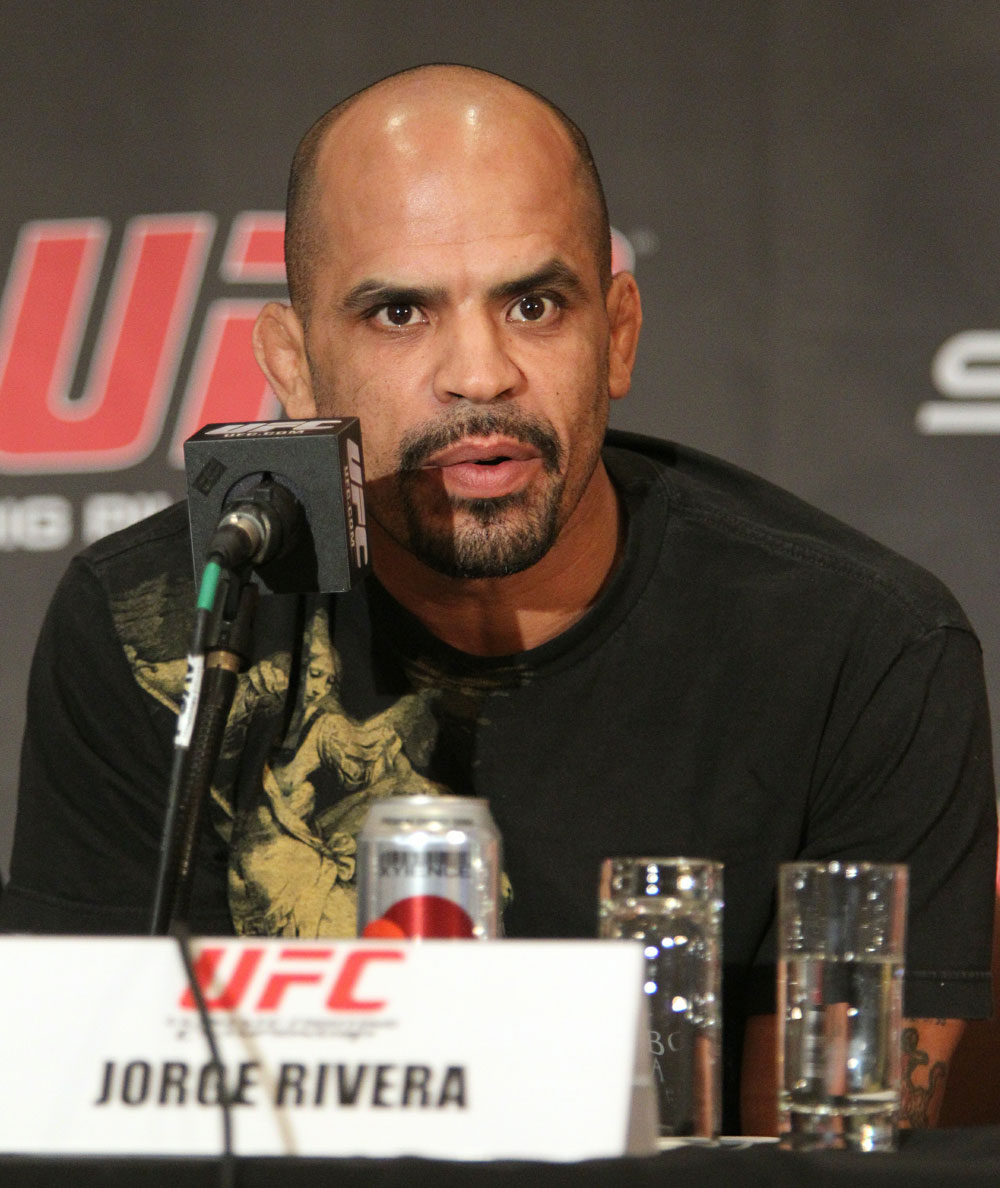 Jorge Rivera at the UFC 122 pre-fight press conference at the Hilton Hotel on November 11,  2010 in Dusseldorf, Germany.  (Photo by Josh Hedges/Zuffa LLC/Zuffa LLC via Getty Images)