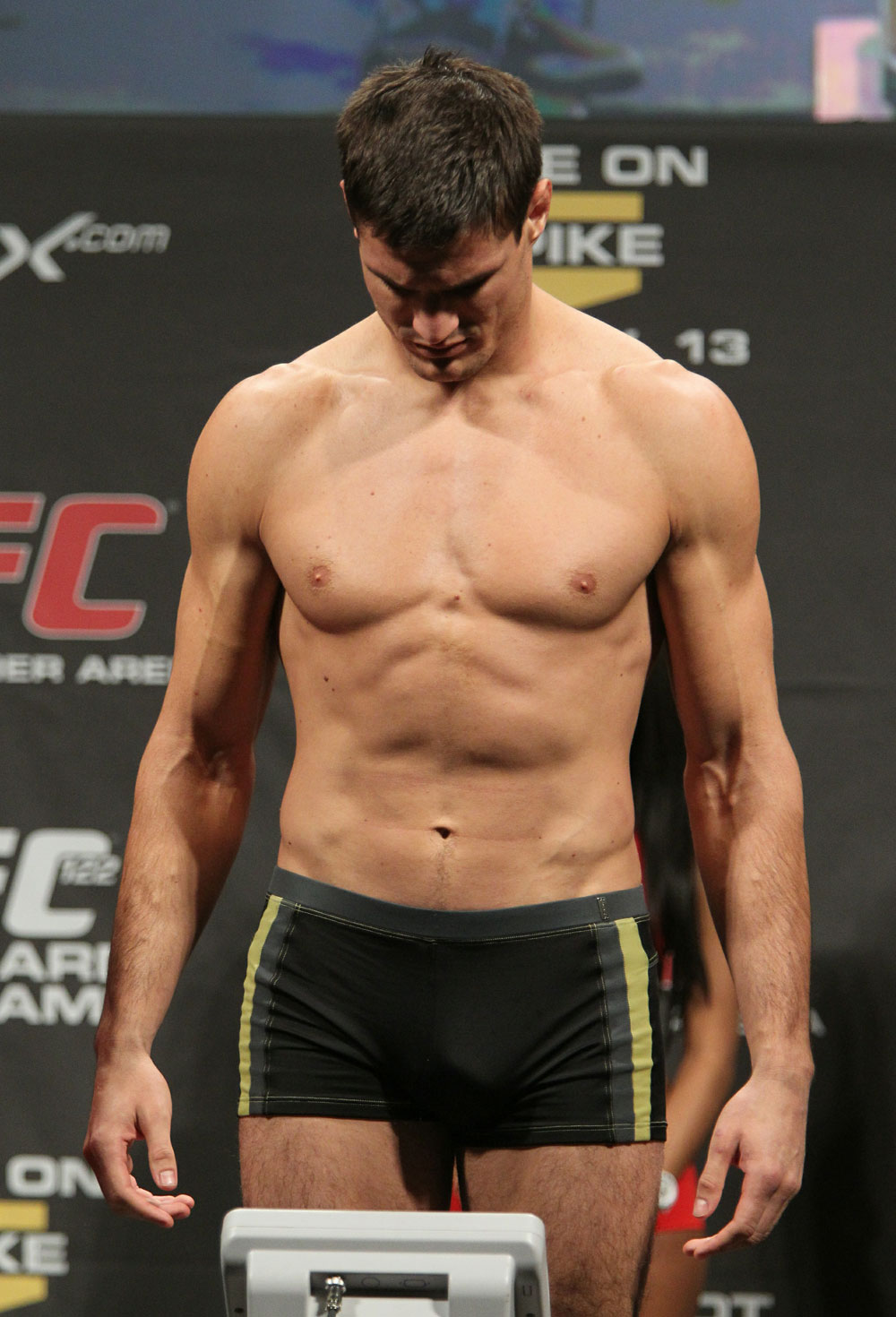Goran Reljic of Croatia weighs in at 205 lbs at the UFC 122 weigh-in at the Kšnig Pilsener Arena on November 12,  2010 in Oberhausen, Germany.  (Photo by Josh Hedges/Zuffa LLC/Zuffa LLC via Getty Images)