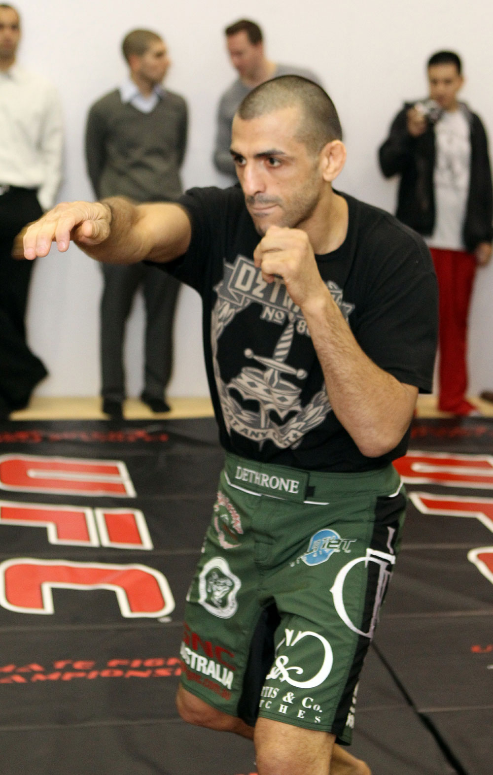George Sotiropoulos works out for the media at the UFC 123 open workouts at the Detroit Athletic Club in Detroit, Michigan on November 18, 2010  (Photo by Josh Hedges/Zuffa LLC/Zuffa LLC via Getty Images)