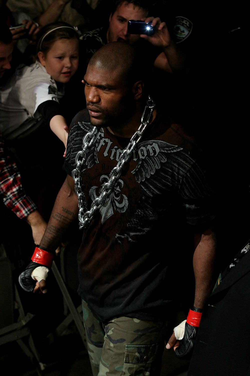 "UFC 123: Quinton ""Rampage"" Jackson enters the arena."
