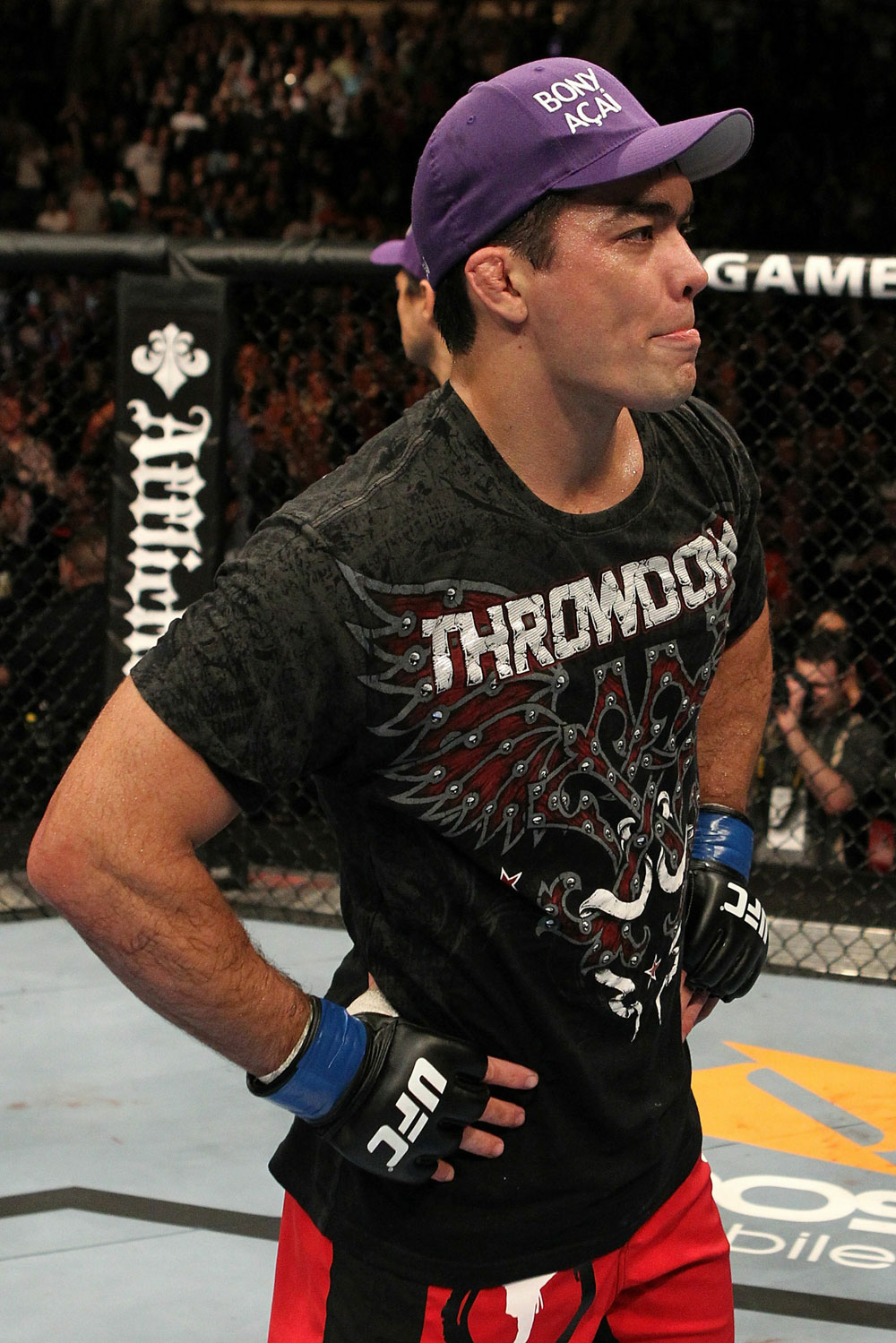 UFC 123: Lyoto &quot;The Dragon&quot; Machida reacts to the decision.