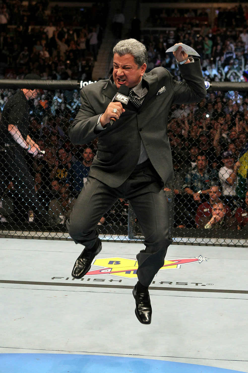 UFC 123: Bruce Buffer announces the main event