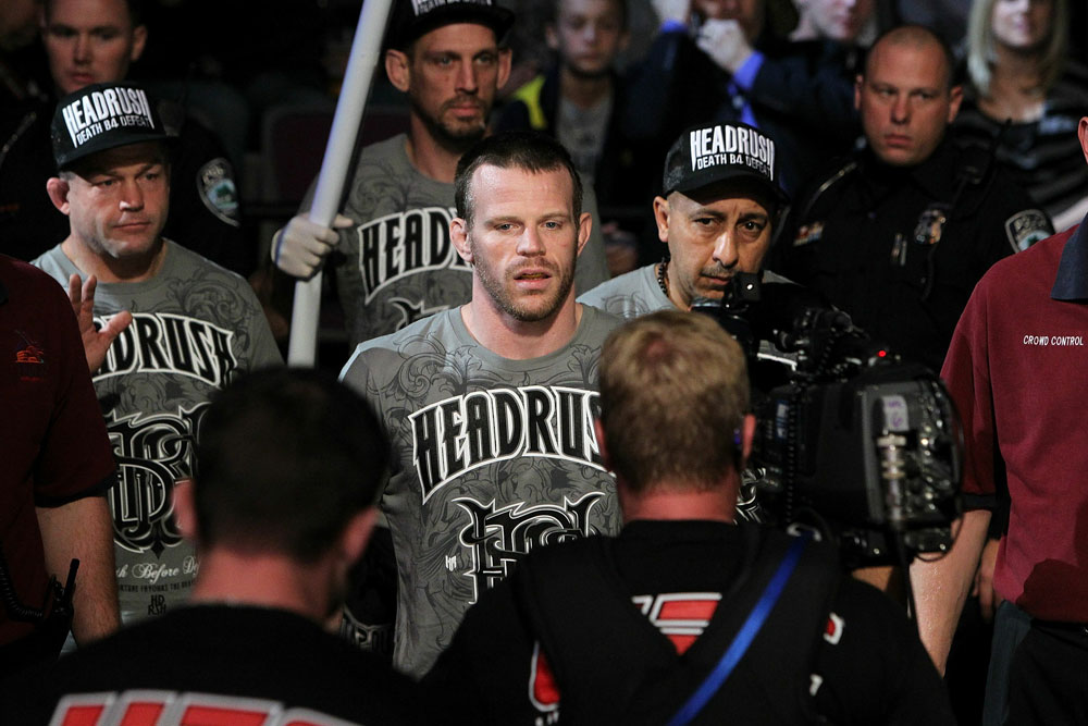 UFC 123: Dennis Hallman makes his entrance.