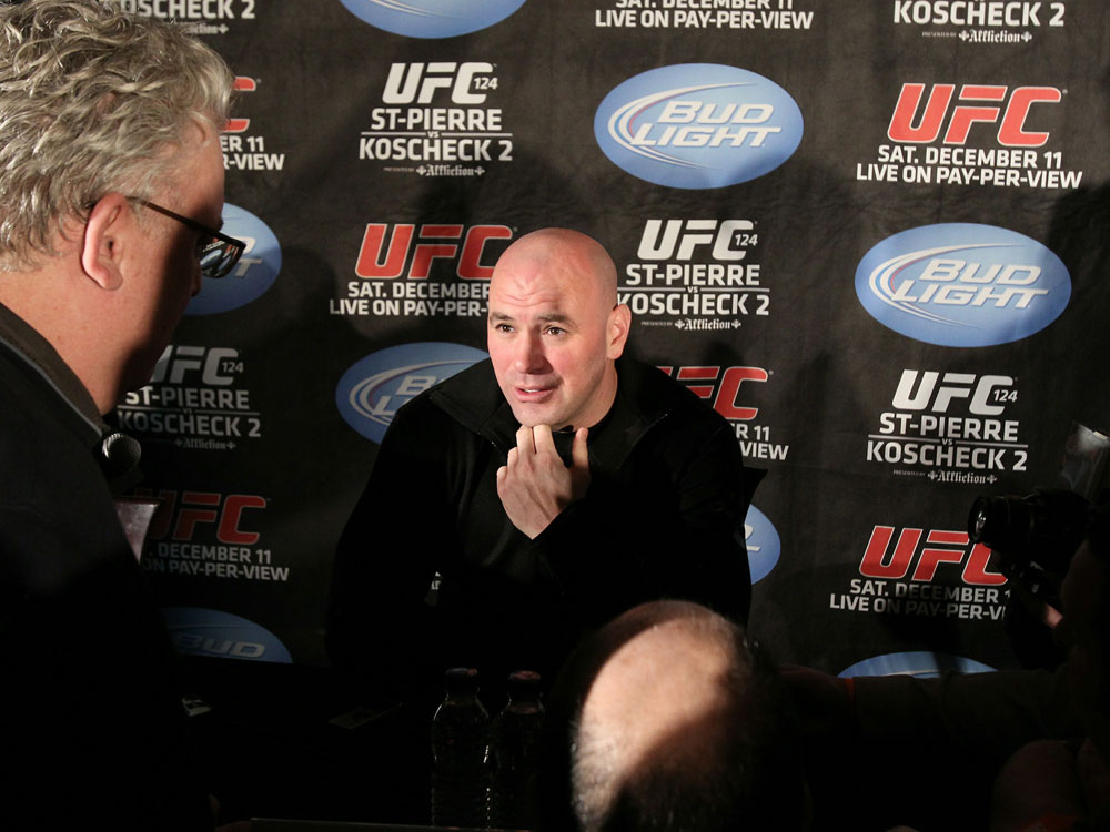UFC 124 Press Conference: Dana White