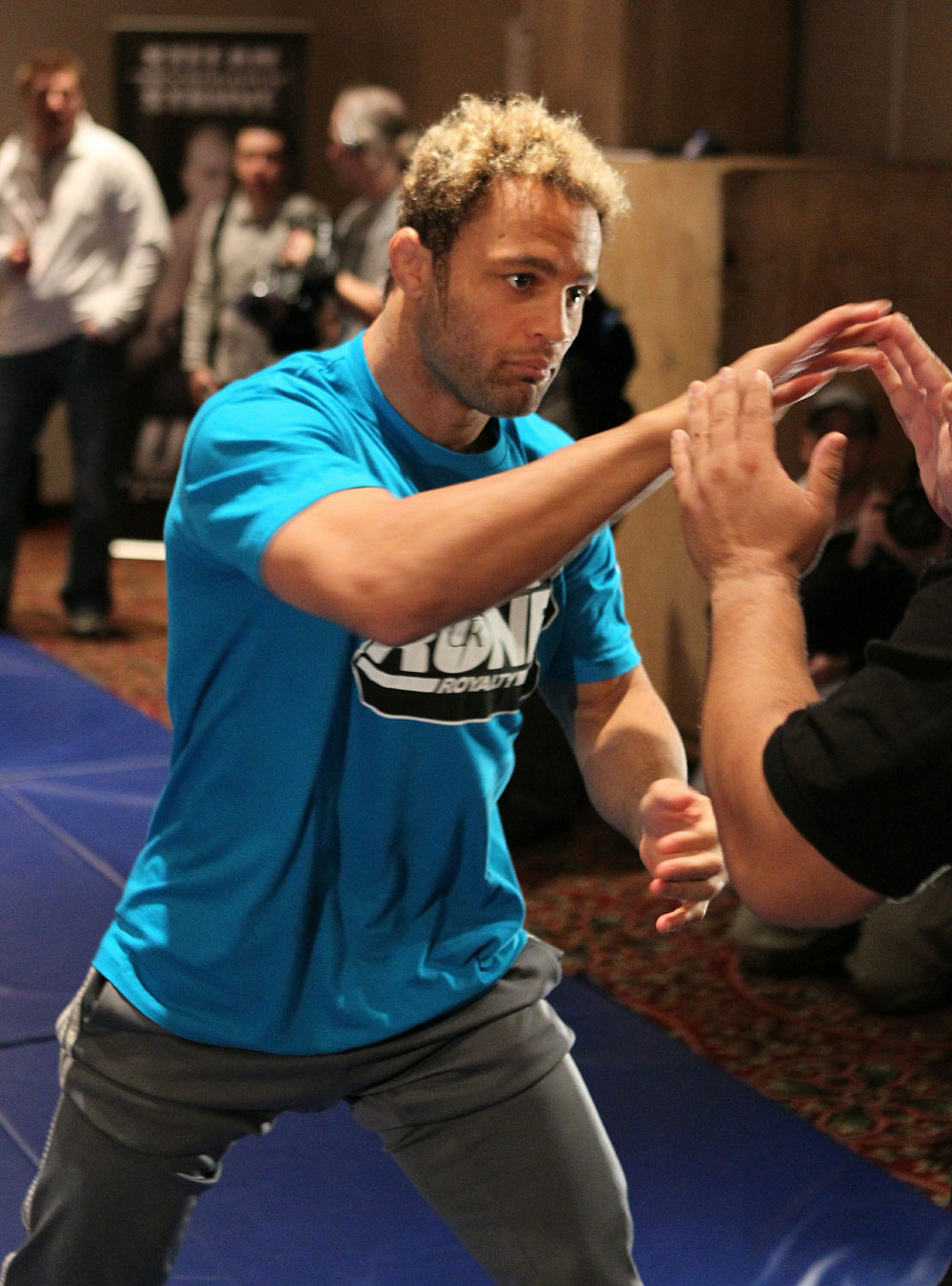 MONTREAL, QC - DECEMBER 08:  UFC 124 open workouts at the Marriott Chateau Champlain in on December 8, 2010 in Montreal, Quebec, Canada.  (Photo by Josh Hedges/Zuffa LLC/Zuffa LLC via Getty Images)