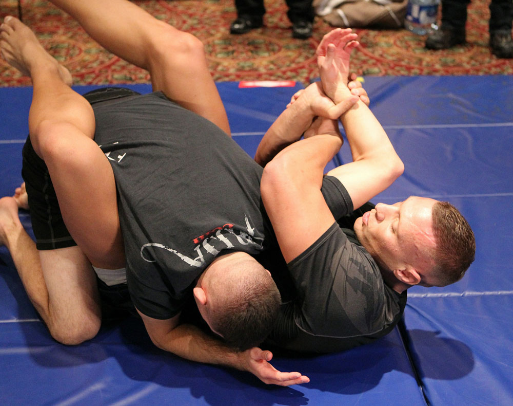 Sean McCorkle at the UFC 124 open workouts at the Marriott Chateau Champlain in on December 8, 2010 in Montreal, Quebec, Canada.