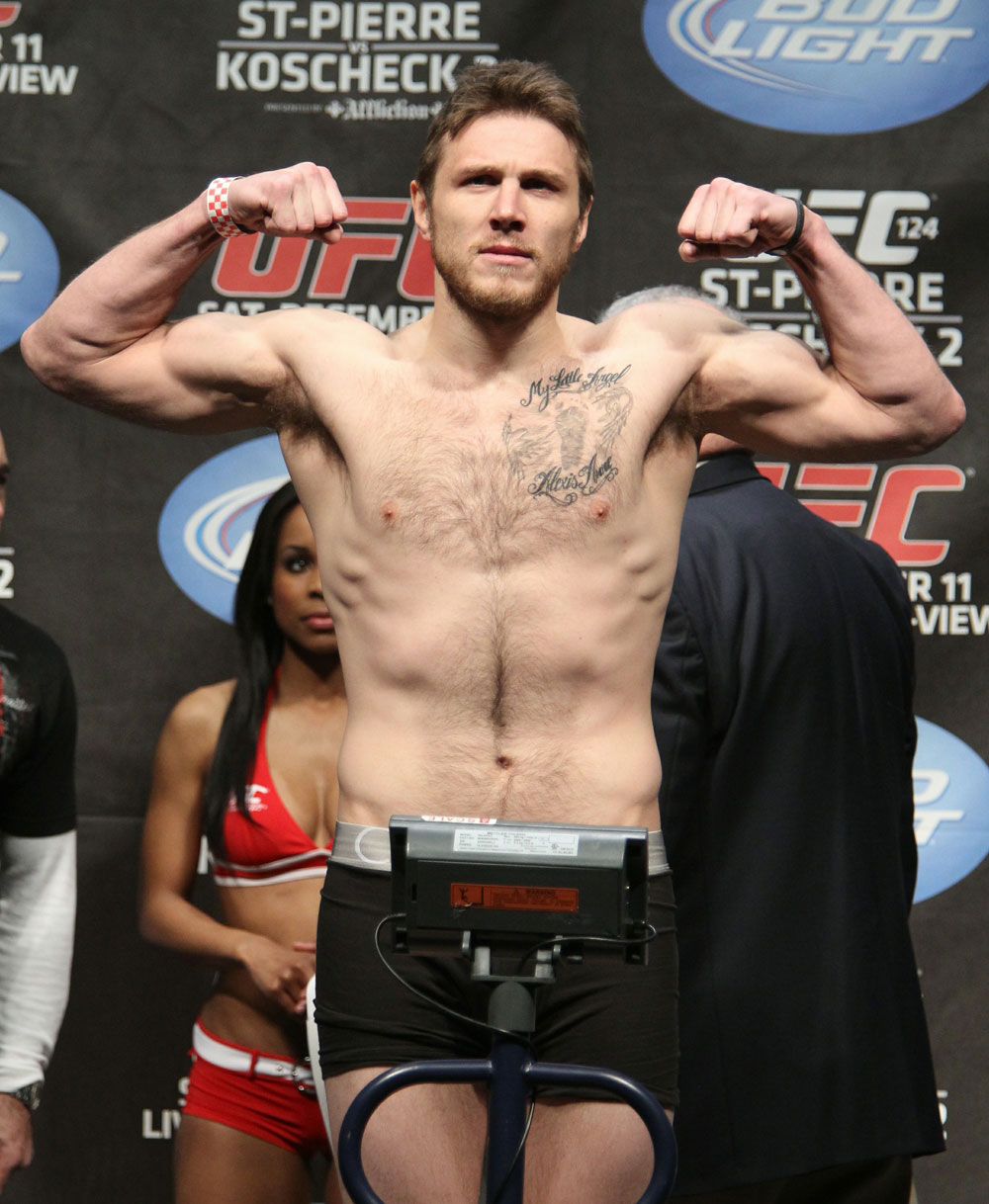 UFC 124 Weigh-in: Dan Miller weighs in at 184.5lbs.