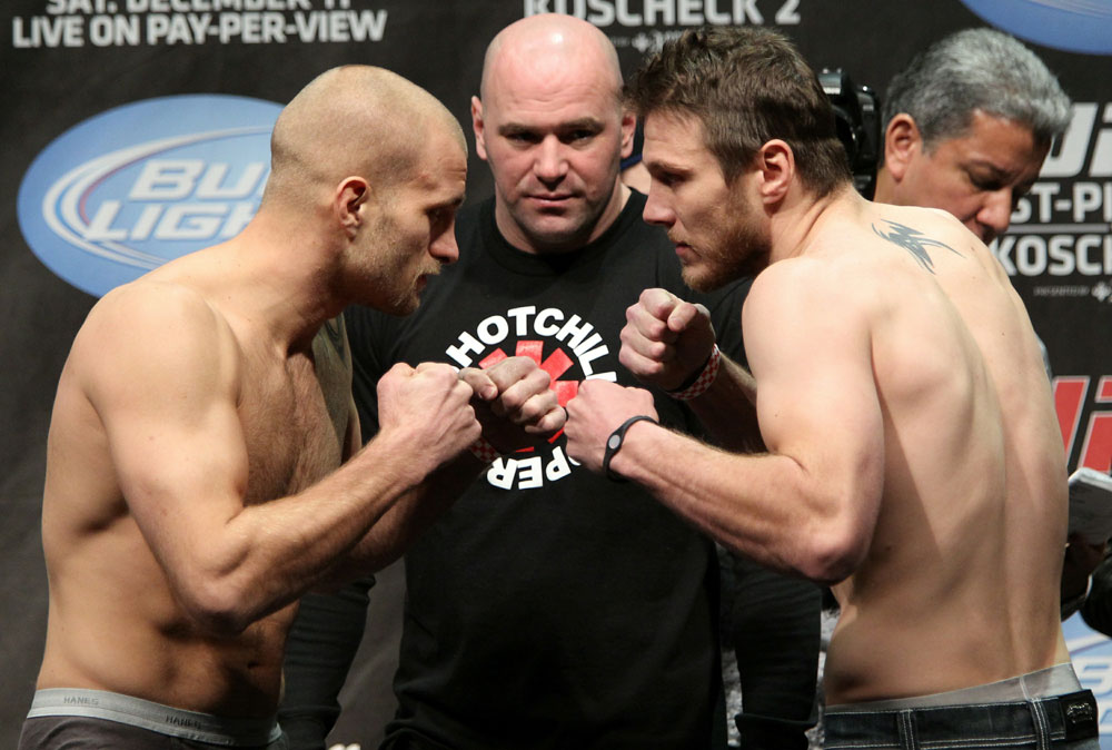 UFC 124 Weigh-in: Doerksen vs. Miller