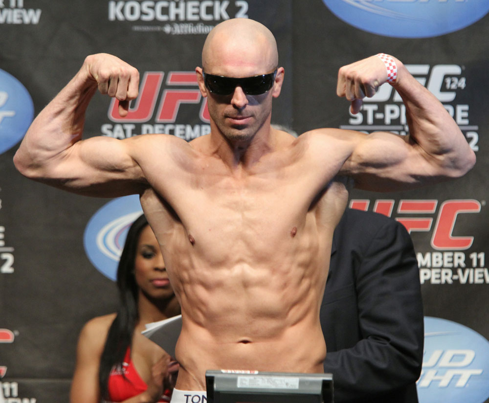 UFC 124 Weigh-in: Sean Pierson weighs in at 170.5lbs.