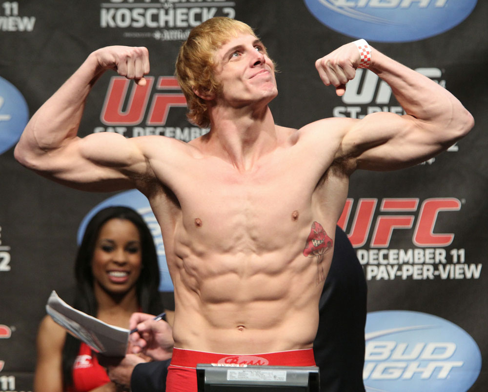 UFC 124 Weigh-in: Matthew Riddle weighs in at 170.5lbs.