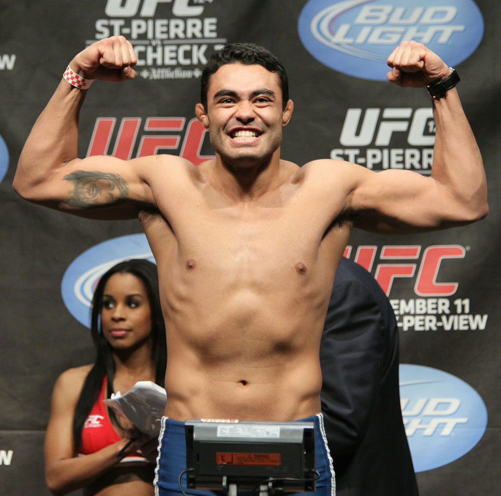 UFC 124 Weigh-in: Rafael Natal weighs in at 185lbs.
