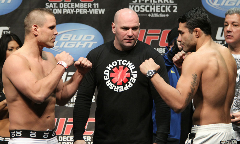 UFC 124 Weigh-in: Bongfeldt vs. Natal