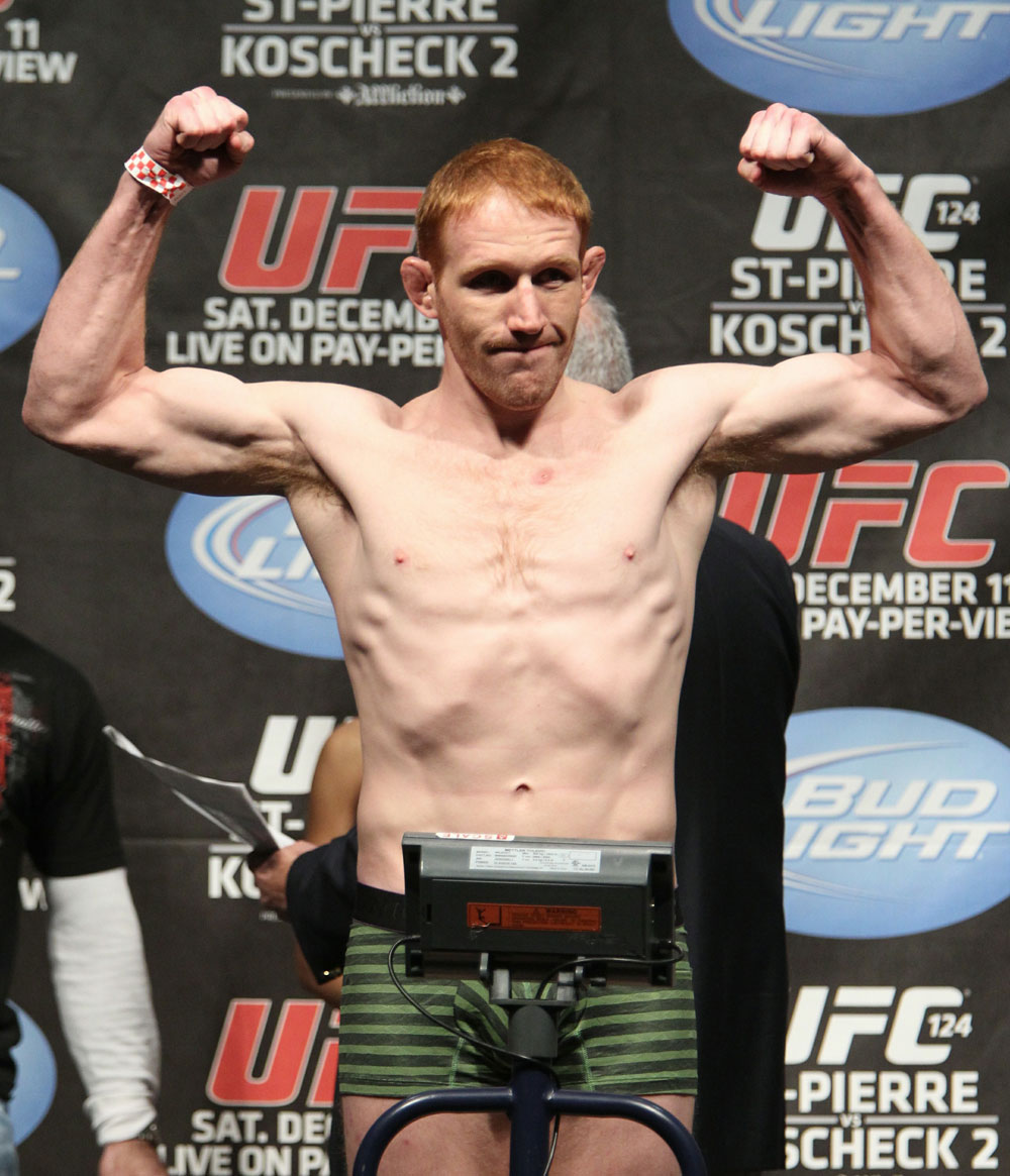 UFC 124 Weigh-in: Mark Bocek weighs in at 155.5lbs.