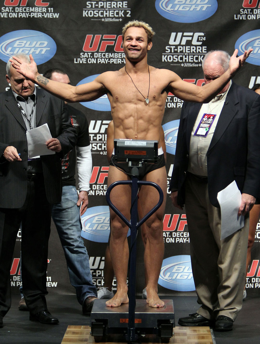 UFC 124 Weigh-in: Josh Koscheck weighs in at 169lbs.