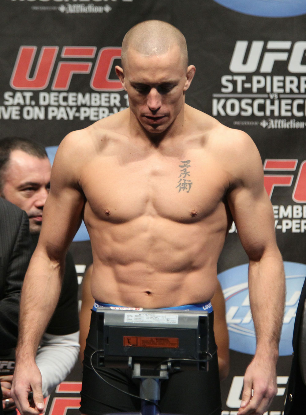 UFC 124 Weigh-in: Georges St-Pierre weighs in at 170lbs