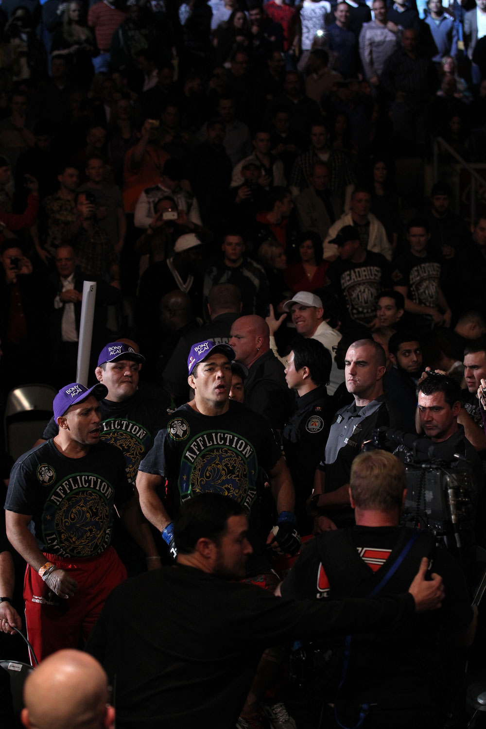 TORONTO, ON - DECEMBER 10:  Lyoto Machida enters the arena before his bout against Jon Jones during the UFC 140 event at Air Canada Centre on December 10, 2011 in Toronto, Ontario, Canada.  (Photo by Nick Laham/Zuffa LLC/Zuffa LLC via Getty Images)