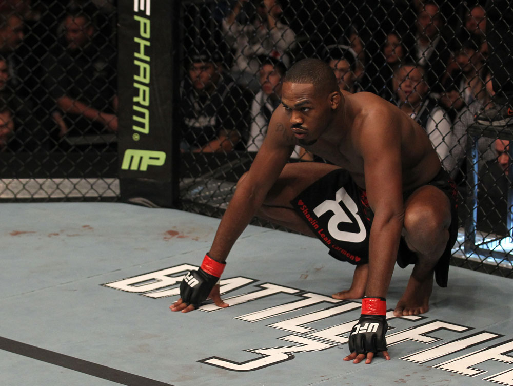 "TORONTO, ON - DECEMBER 10:  Jon ""Bones"" Jones stands in the Octagon before his bout against Lyoto Machida during the UFC 140 event at Air Canada Centre on December 10, 2011 in Toronto, Ontario, Canada.  (Photo by Nick Laham/Zuffa LLC/Zuffa LLC via Getty Images)"