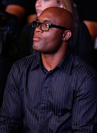 SAO PAULO, BRAZIL - JANUARY 19:  UFC middleweight champion Anderson Silva looks on during the UFC on FX event on January 19, 2013 at Ibirapuera Gymnasium in Sao Paulo, Brazil. (Photo by Josh Hedges/Zuffa LLC/Zuffa LLC via Getty Images)