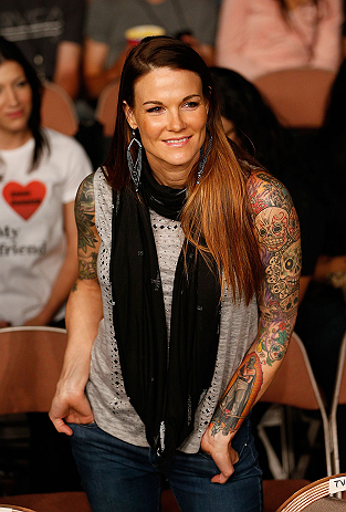 LAS VEGAS, NV - APRIL 13:   Wrestling personality Amy Dumas (Lita) in attendance at the Mandalay Bay Events Center  on April 13, 2013 in Las Vegas, Nevada.  (Photo by Josh Hedges/Zuffa LLC/Zuffa LLC via Getty Images)  *** Local Caption *** Amy Dumas