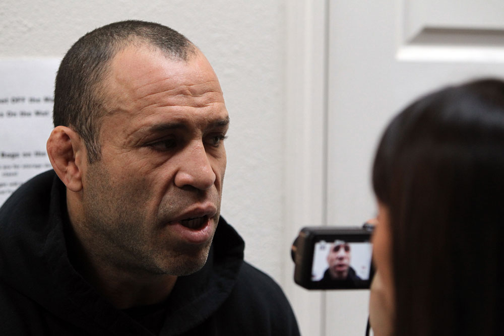 SAN JOSE, CA - NOVEMBER 16:  Wanderlei Silva answers questions from the media during the UFC 139 open workouts at the Heroes Martial Arts Gym on November 16, 2011 in San Jose, California.  (Photo by Josh Hedges/Zuffa LLC/Zuffa LLC via Getty Images)