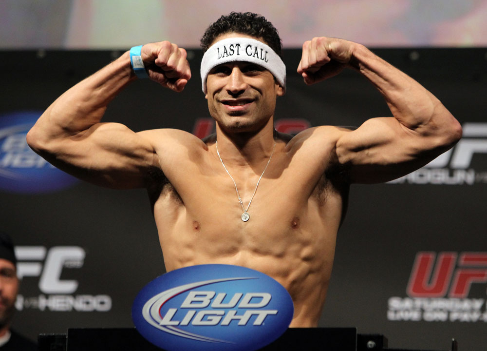 SAN JOSE, CA - NOVEMBER 18:  Danny Castillo weighs in during the UFC 139 Weigh In at the HP Pavilion on November 18, 2011 in San Jose, California.  (Photo by Josh Hedges/Zuffa LLC/Zuffa LLC via Getty Images)