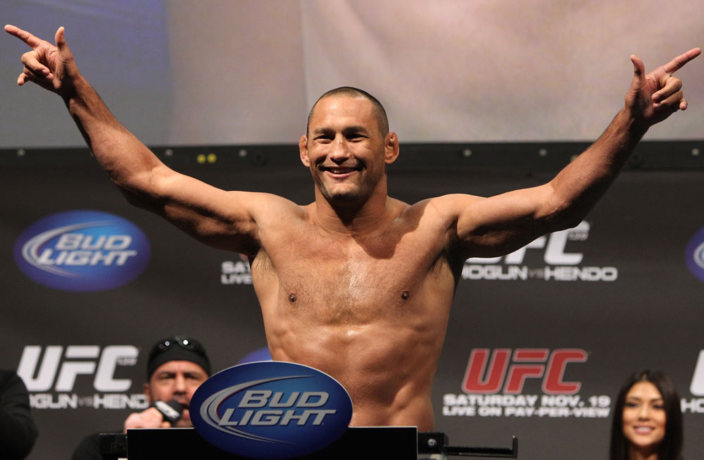 SAN JOSE, CA - NOVEMBER 18:  Dan Henderson weighs in during the UFC 139 Weigh In at the HP Pavilion on November 18, 2011 in San Jose, California.  (Photo by Josh Hedges/Zuffa LLC/Zuffa LLC via Getty Images)