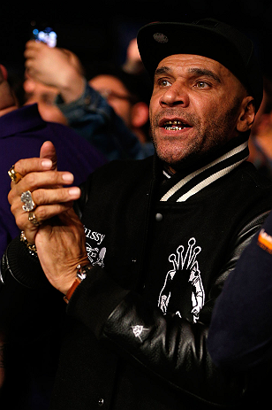 LONDON, ENGLAND - FEBRUARY 16:  Rapper Goldie attends the UFC on Fuel TV event on February 16, 2013 at Wembley Arena in London, England.  (Photo by Josh Hedges/Zuffa LLC/Zuffa LLC via Getty Images)