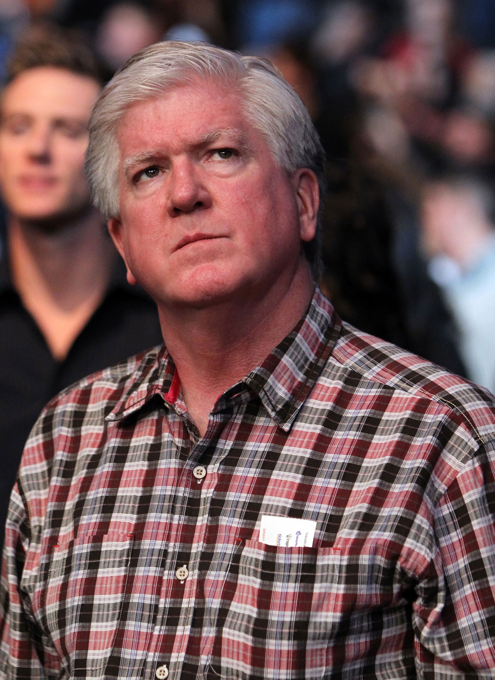 TORONTO, ON - DECEMBER 10:  Former Toronto Maple Leafs head coach Pat Quinn attends the UFC 140 event at Air Canada Centre on December 10, 2011 in Toronto, Ontario, Canada.  (Photo by Josh Hedges/Zuffa LLC/Zuffa LLC via Getty Images)