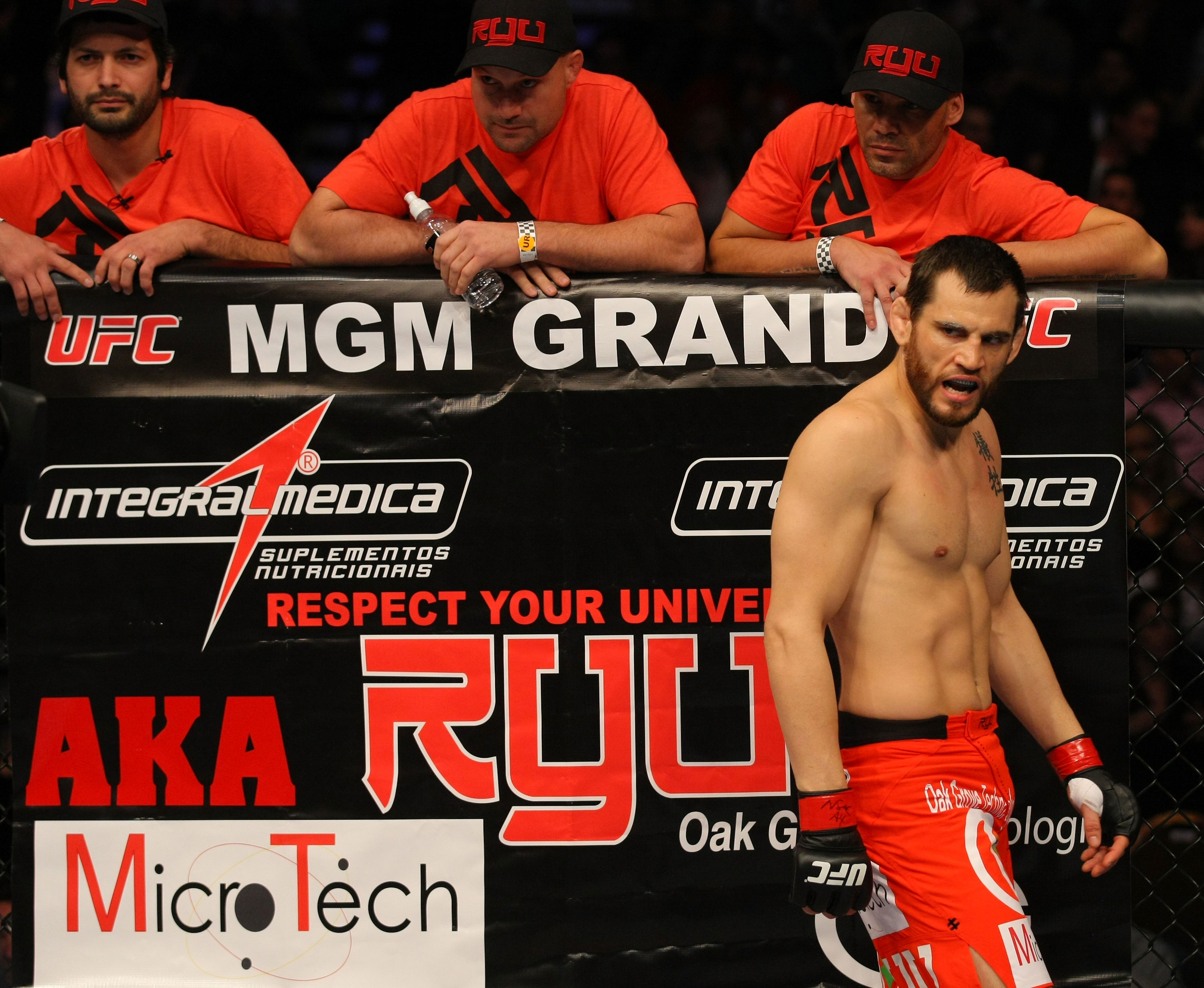 LAS VEGAS, NV - DECEMBER 30:  Jon Fitch is introduced before his fight against Johny Hendricks during the UFC 141 event at the MGM Grand Garden Arena on December 30, 2011 in Las Vegas, Nevada.  (Photo by Donald Miralle/Zuffa LLC/Zuffa LLC via Getty Images) *** Local Caption *** Jon Fitch