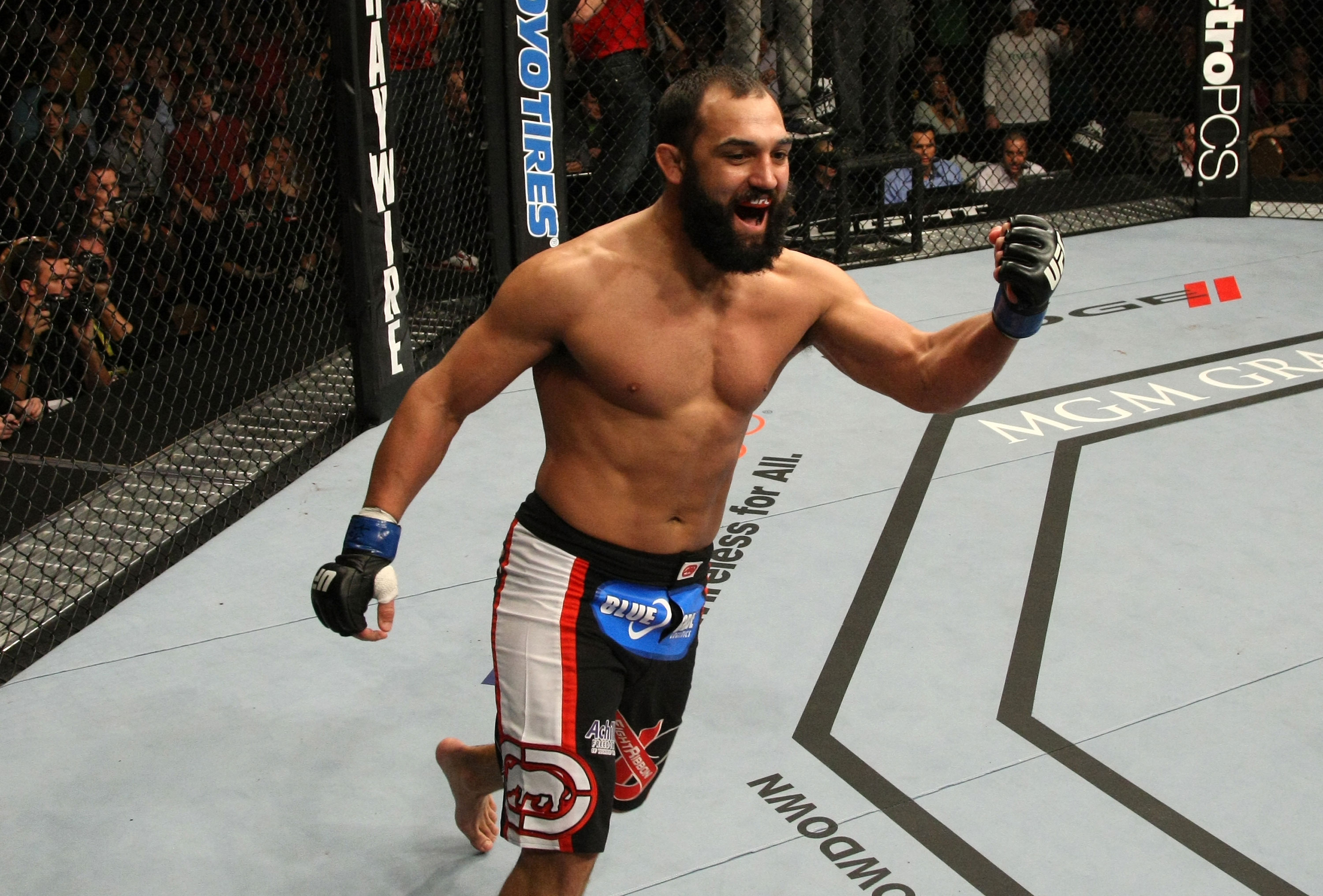 LAS VEGAS, NV - DECEMBER 30:  Johny Hendricks reacts to his knockout win over Jon Fitch during the UFC 141 event at the MGM Grand Garden Arena on December 30, 2011 in Las Vegas, Nevada.  (Photo by Donald Miralle/Zuffa LLC/Zuffa LLC via Getty Images) *** Local Caption *** Johny Hendricks