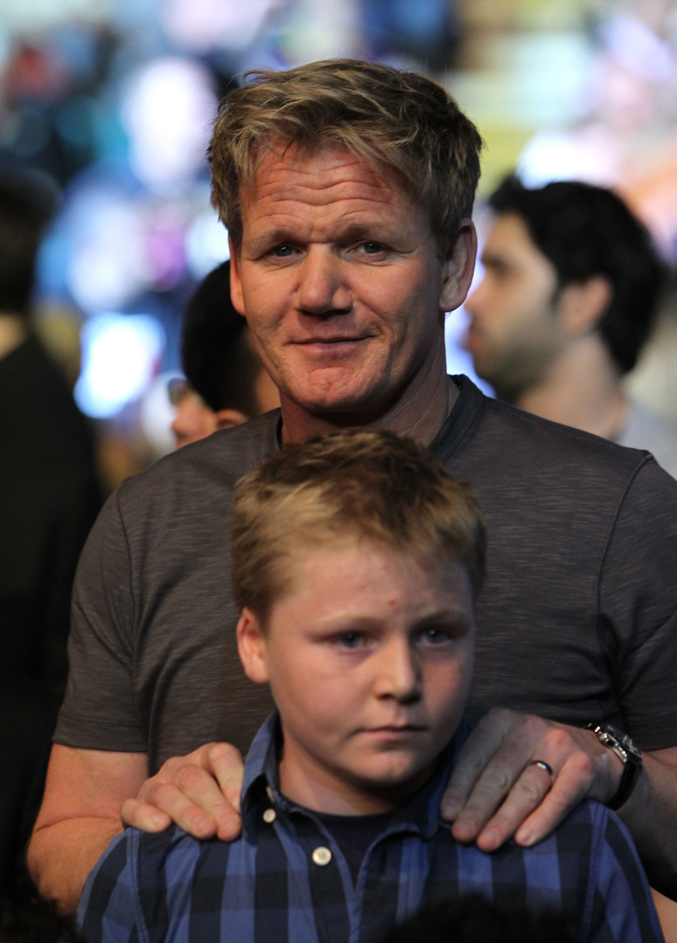 LAS VEGAS, NV - DECEMBER 30:  Gordon Ramsay in attendance during the UFC 141 event at the MGM Grand Garden Arena on December 30, 2011 in Las Vegas, Nevada.  (Photo by Josh Hedges/Zuffa LLC/Zuffa LLC via Getty Images) *** Local Caption *** Gordon Ramsay