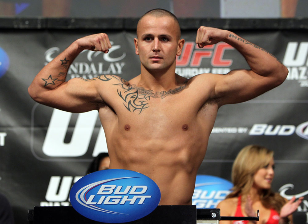 LAS VEGAS, NV - FEBRUARY 03:  Michael Kuiper weighs in during the UFC 143 official weigh in at Mandalay Bay Events Center on February 3, 2012 in Las Vegas, Nevada.|2:55:8  (Photo by Josh Hedges/Zuffa LLC/Zuffa LLC via Getty Images) *** Local Caption *** Michael Kuiper