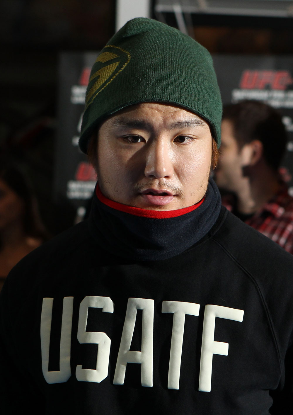 TOKYO, JAPAN - FEBRUARY 22:  Takanori Gomi works out for the media during the UFC 144 open workouts at Gold's Gym on February 22, 2012 in Tokyo, Japan.  (Photo by Josh Hedges/Zuffa LLC/Zuffa LLC via Getty Images) *** Local Caption *** Takanori Gomi